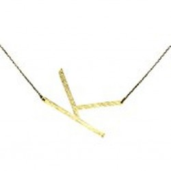 Ellison + Young Monogram Collection Initial Necklace - K