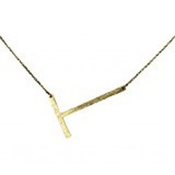 Ellison + Young Monogram Collection Initial Necklace - T