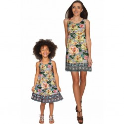 Prima Donna Sanibel Empire Waist Floral Mother and Daughter Dresses