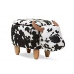 Baxton Studio Mignonne Contemporary Wool Upholstered Buffalo Storage Ottoman