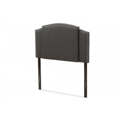 Baxton Studio Allenna Modern and Contemporary Dark Grey Fabric Twin and Full Size Expandable Headboard