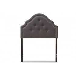Baxton Studio Cora Modern and Contemporary Dark Grey Fabric Upholstered Twin Size Headboard