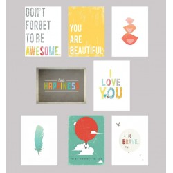 Be Inspired Wall Card Collection Set Of 8 - 5 X 7 In