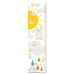 You Are My Sunshine Personalized Growth Chart