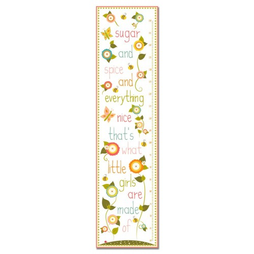 Sugar and Spice Personalized Growth Chart (Pink and Orange Mix)
