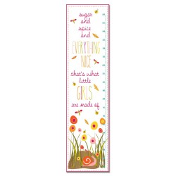 Sugar and Spice and Everything Nice - Pink Growth Chart Personalized with Name