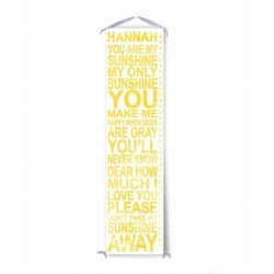 Personalized Yellow You Are My Sunshine Growth Chart