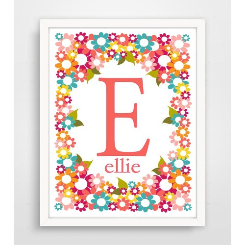 Personalized Pink Floral Explosion Print