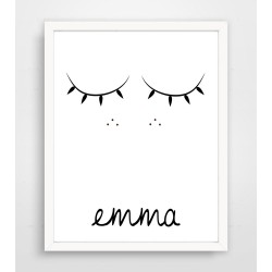 Personalized Sweet Sleepy Eyes Print