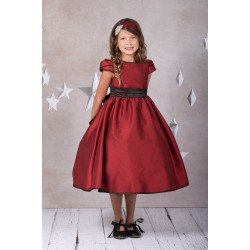 Classic Elizabeth Satin Dress With Sleeves